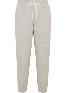 James Perse Cropped Cotton-jersey Track Pants
