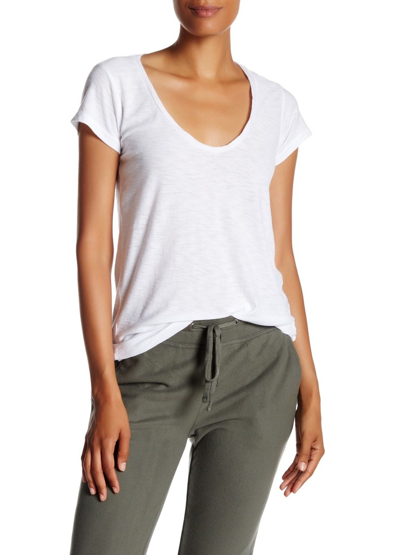 James Perse Deep Scoop Neck T-Shirt