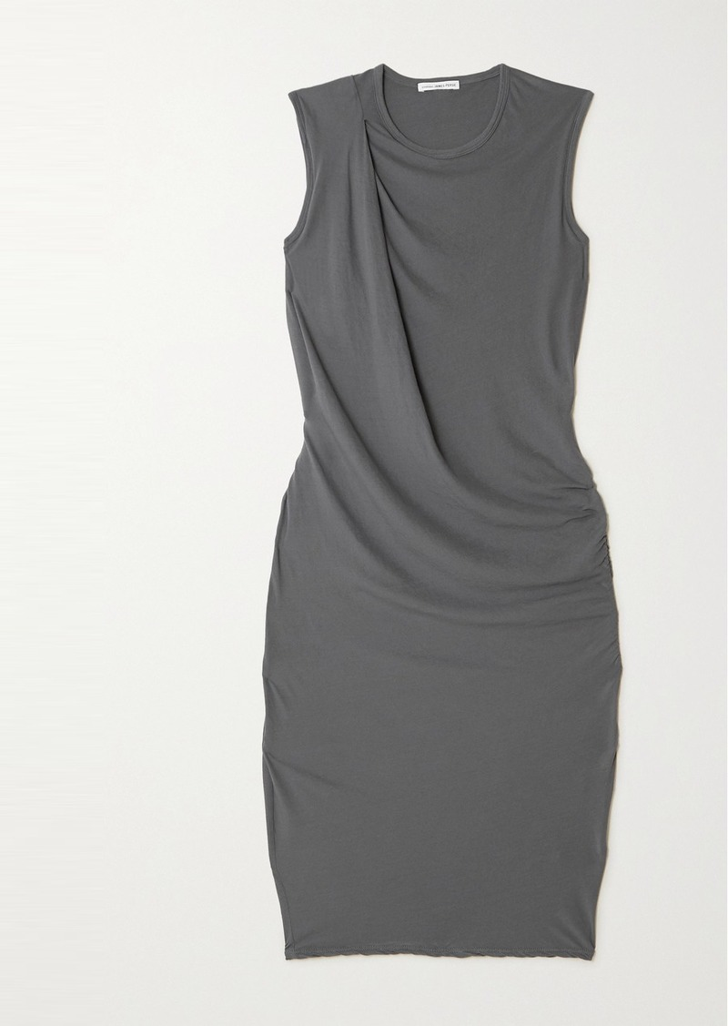 James Perse Draped Cotton-jersey Dress
