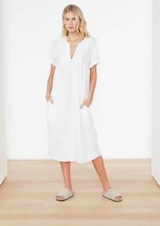 James Perse Empire Linen Dress - White