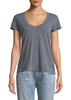 James Perse Faded V-Neck Cotton Tee