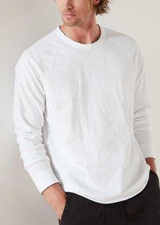 James Perse High Twist Zimbabwe Jersey Raglan - White