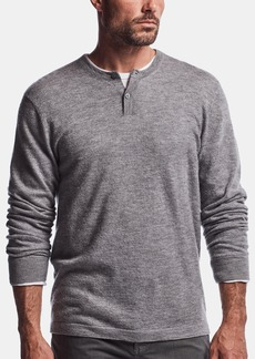 James Perse BOILED CASHMERE HENLEY SWEATER