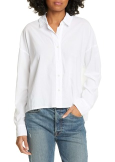 James Perse Boxy Cotton Lawn Shirt