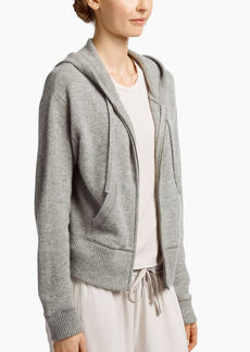 James Perse BRUSHED CASHMERE ZIP-UP