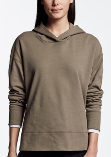 James Perse BRUSHED FLEECE SIDE SPLIT HOODIE