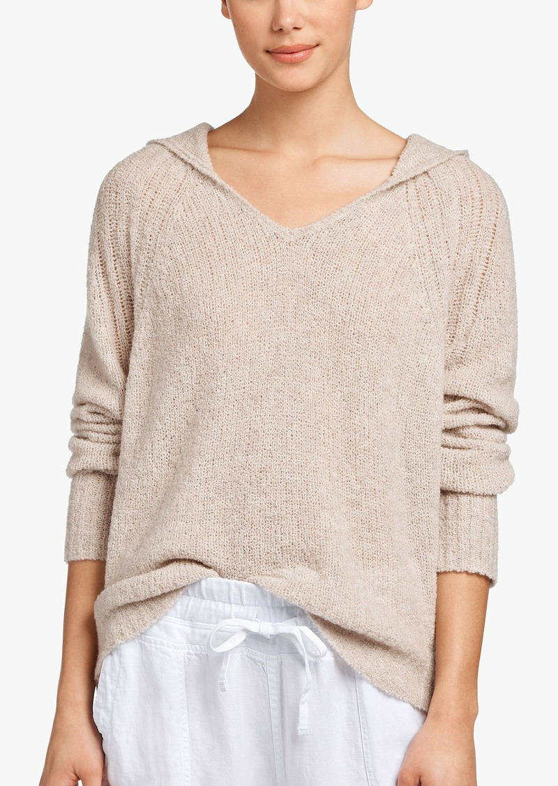 James Perse CASHMERE BOUCLE CROPPED HOODIE