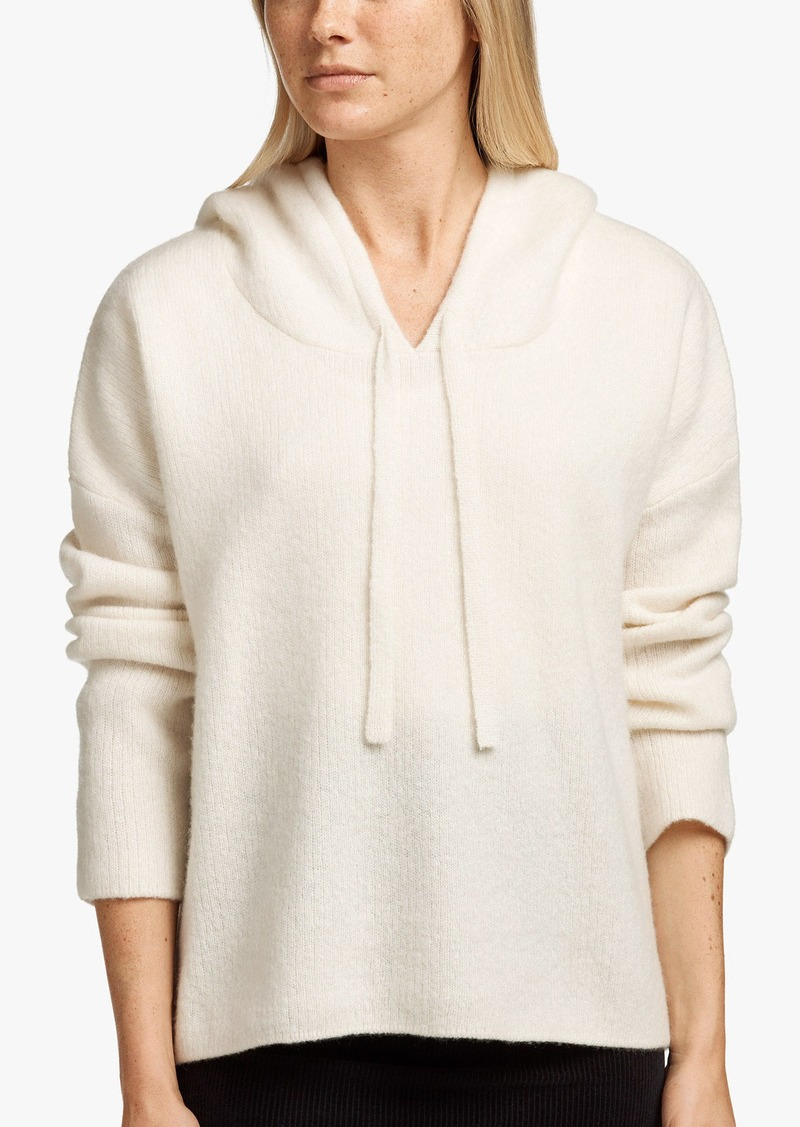 James Perse CASHMERE SILK CROPPED HOODIE