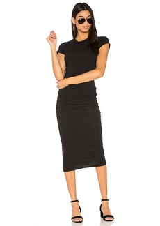James Perse Classic Skinny Dress in Black & White. - size 0 (XXS/XS) (also in 1 (XS/S))