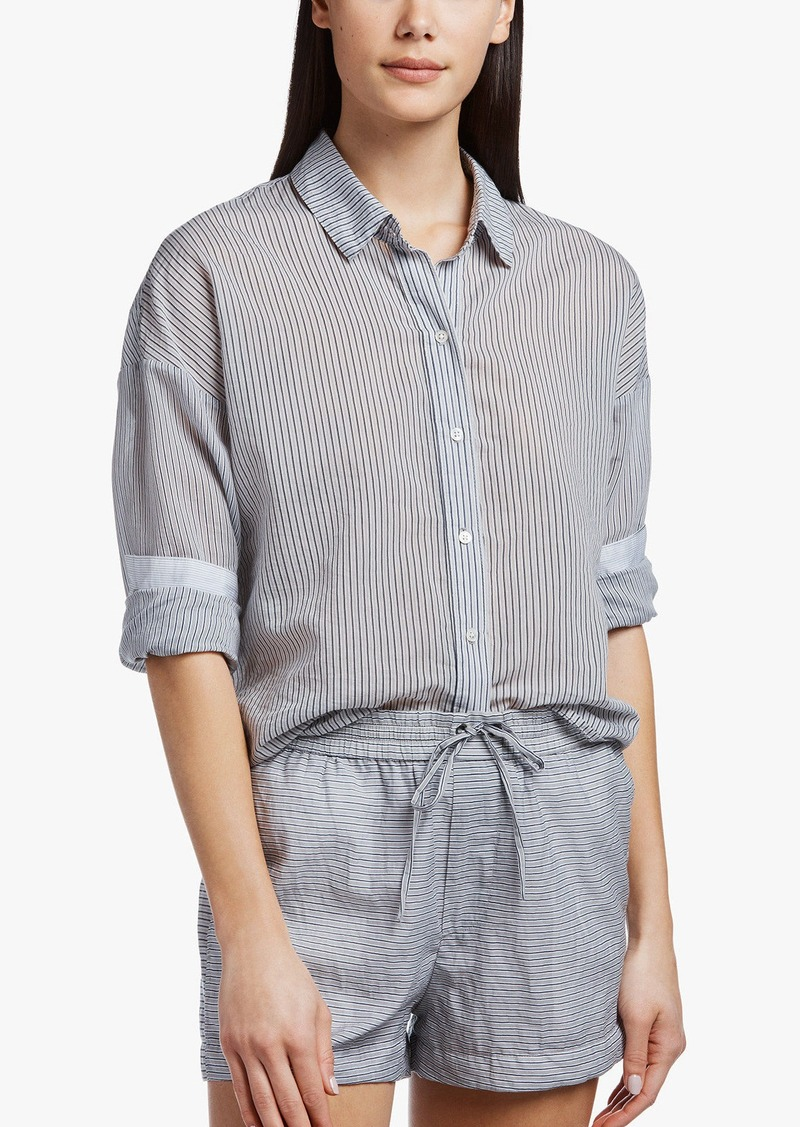 James Perse COLLAGE STRIPE BOXY SHIRT
