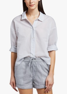 James Perse COLLAGE STRIPE RELAXED SHIRT