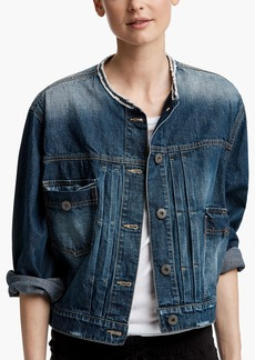 James Perse COLLARLESS DENIM JACKET
