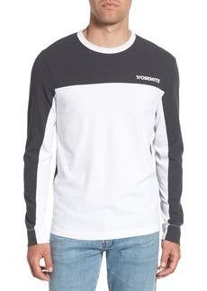 James Perse Colorblock Motocross Shirt