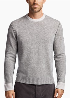 James Perse CONTRAST LINKED CASHMERE CREW