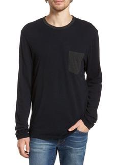 James Perse Contrast Pocket Long Sleeve T-Shirt (Men)
