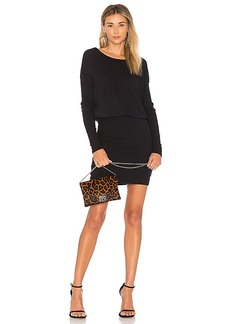 James Perse Contrast Rib Pullover Dress in Navy. - size 0 (XXS/XS) (also in 1 (XS/S),2 (S/M),3 (M/L))