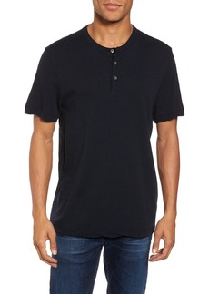 James Perse Contrast Stitch Henley T-Shirt