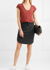 James Perse Cotton-blend jersey mini skirt