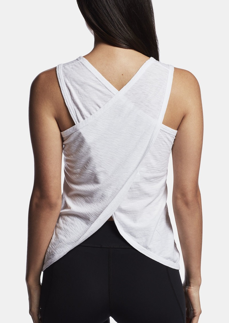 James Perse COTTON CREPE WRAP BACK TANK