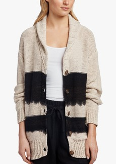 James Perse COTTON LINEN DIP DYED CARDIGAN
