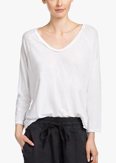 James Perse COTTON LINEN RAGLAN TEE