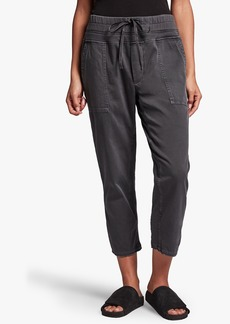 James Perse CROPPED MIXED MEDIA PANT