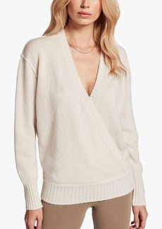 James Perse CROSSOVER CASHMERE SWEATER