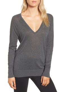James Perse Deep V-Neck Sweater