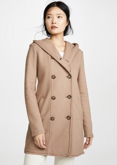 James Perse Double Breasted Hooded Coat
