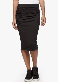 James Perse DOUBLE SHIRRED SKINNY SKIRT