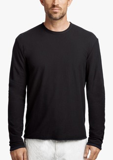 James Perse DOUBLED COTTON TWILL JERSEY CREW