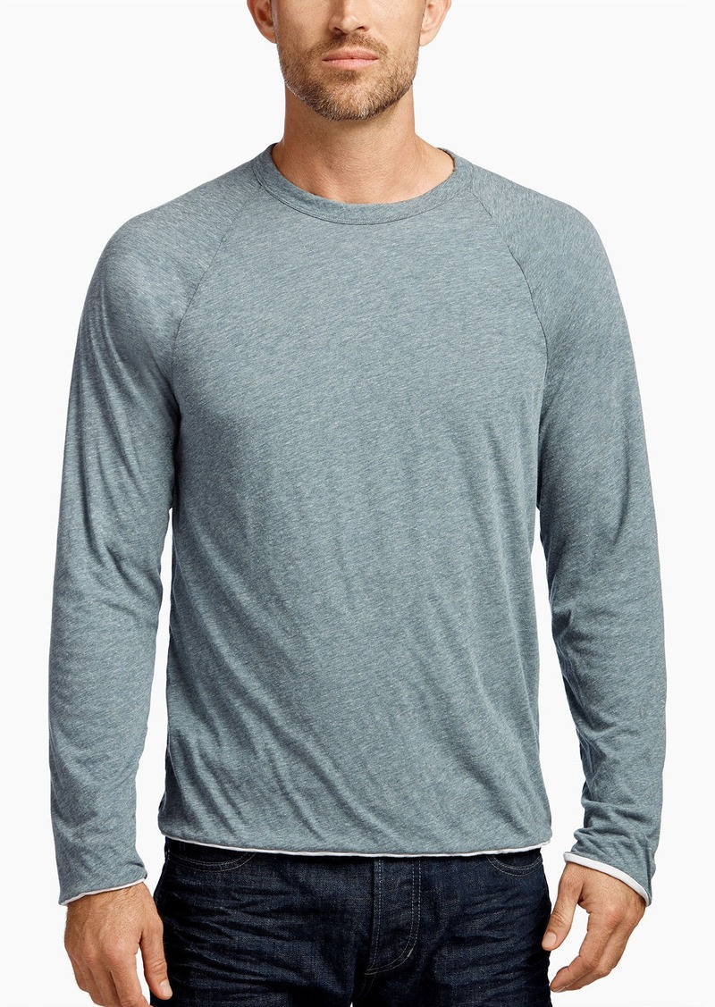James perse james perse doubled layered melange crew t for James perse t shirts sale