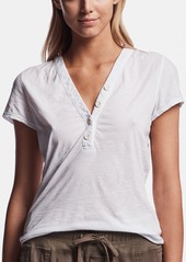 James Perse FEATHERWEIGHT JERSEY HENLEY