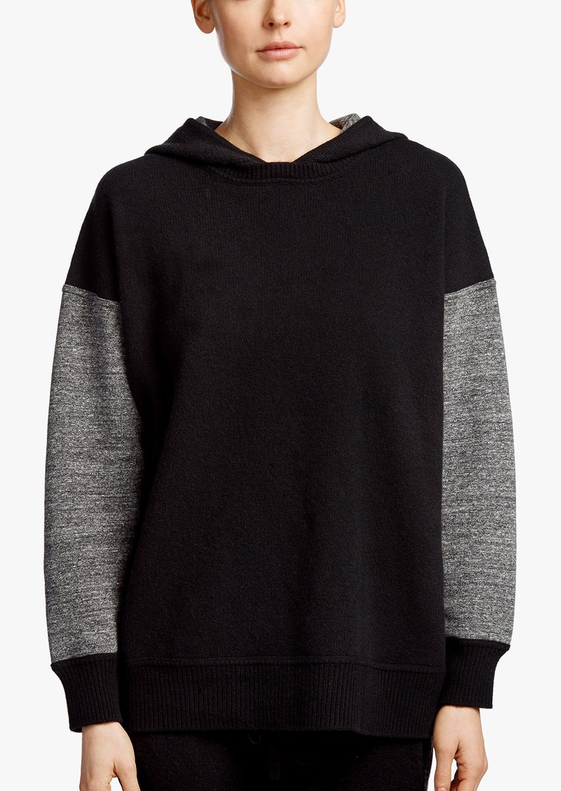 James Perse FLEECE CASHMERE CONTRAST HOODIE