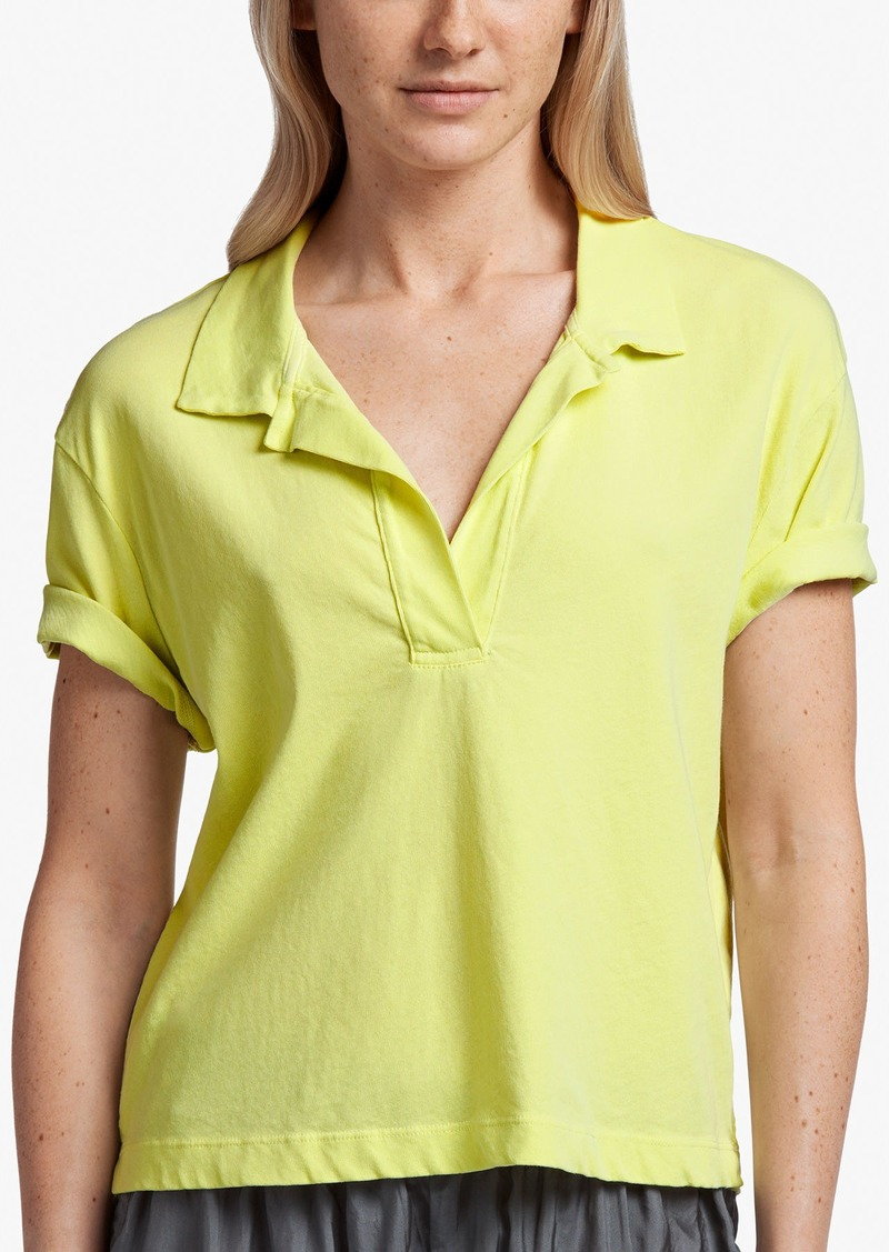 James Perse FRESCA JERSEY CROPPED POLO