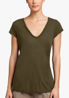 James Perse HIGH GAUGE DEEP V TEE