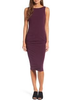James Perse High Neck Shirred Dress