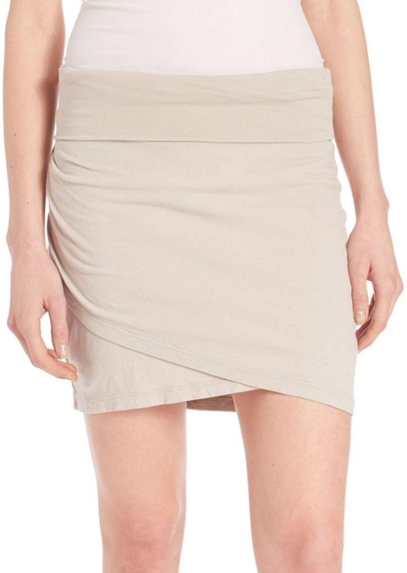 James Perse High-Waisted Wrap Skirt