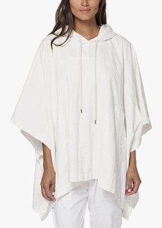 James Perse HOODED LINEN PONCHO
