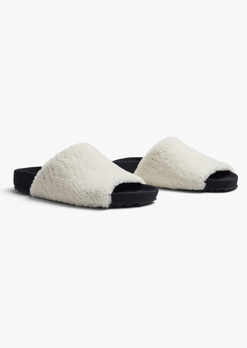 James Perse LATIGO SHEARLING SLIDE - WOMENS