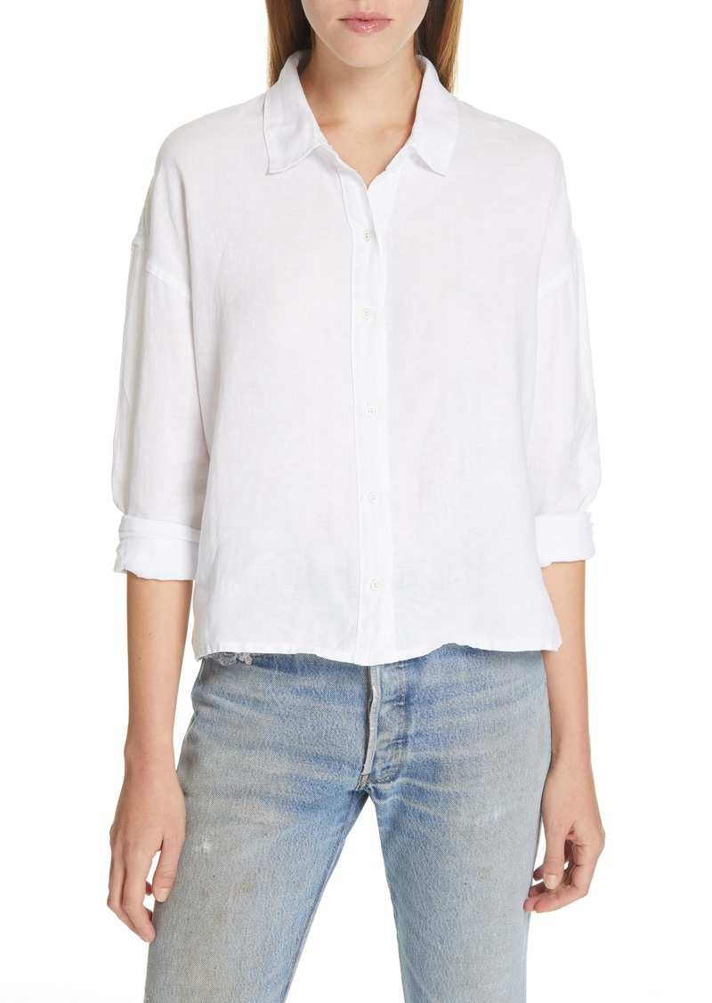 James Perse Linen Boxy Shirt