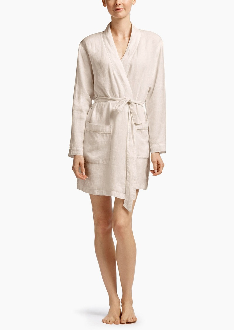 James Perse LINEN LOUNGE ROBE