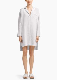 James Perse LINEN LOUNGE SHIRT DRESS