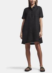 James Perse LINEN POCKET SHIRT DRESS