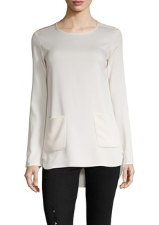 James Perse Long Sleeve Apron Tunic Top