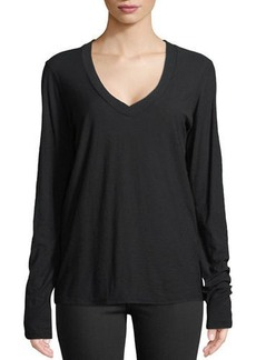 James Perse Long-Sleeve V-Neck Tee
