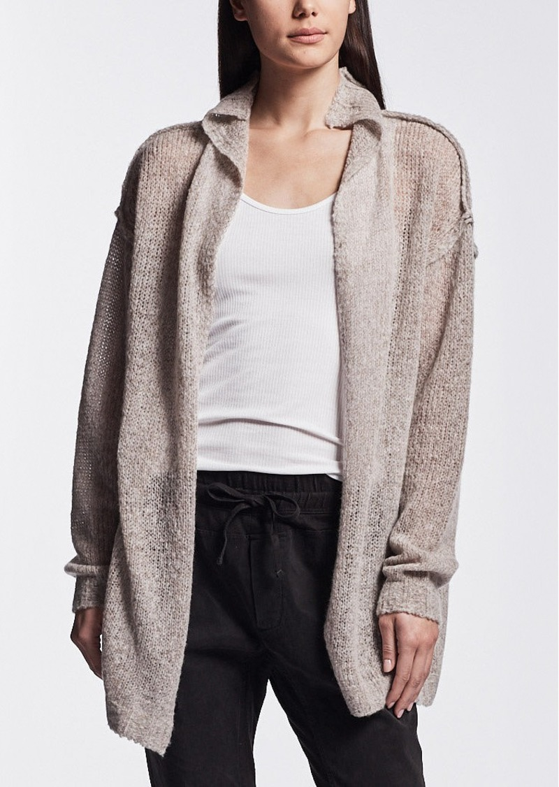 James Perse LOOSE STITCH WOOL CASHMERE CARDIGAN