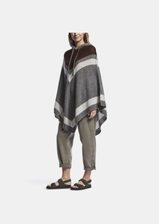 James Perse LOOSE STITCH WOOL CASHMERE PONCHO