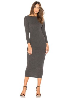 James Perse Low Back Skinny Dress in Gray. - size 0 (XXS/XS) (also in 1 (XS/S),2 (S/M),3 (M/L))