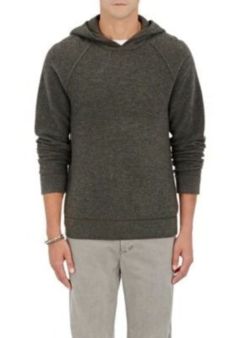 James Perse Men's Cashmere Thermal Hoodie-GREY Size 2
